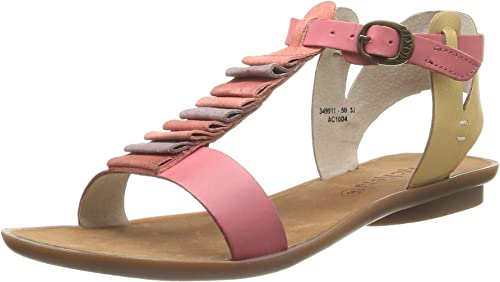 chaussures kickers sandale rose femme