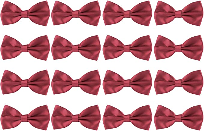 Boy/'s Bowtie Solid Color Pre-Tied Adjustable Necktie Formal Event Wedding Bowtie
