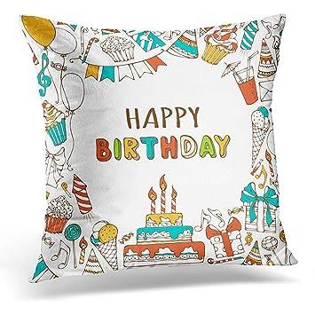 Amazon.com: Fundas de almohada, feliz cumpleaños, dulces ...