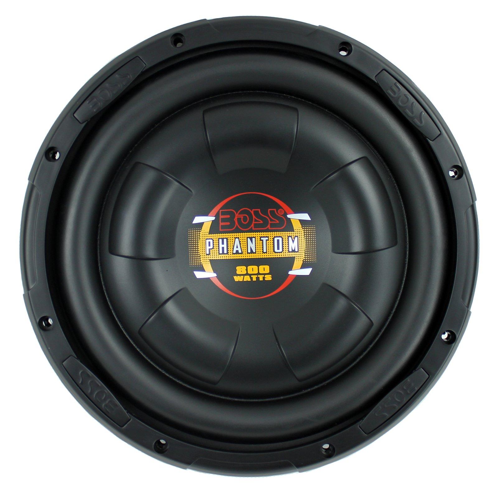 Boss 10'' 800W Shallow Slim Car Audio Subwoofer Power Sub Woofer Flat D10F