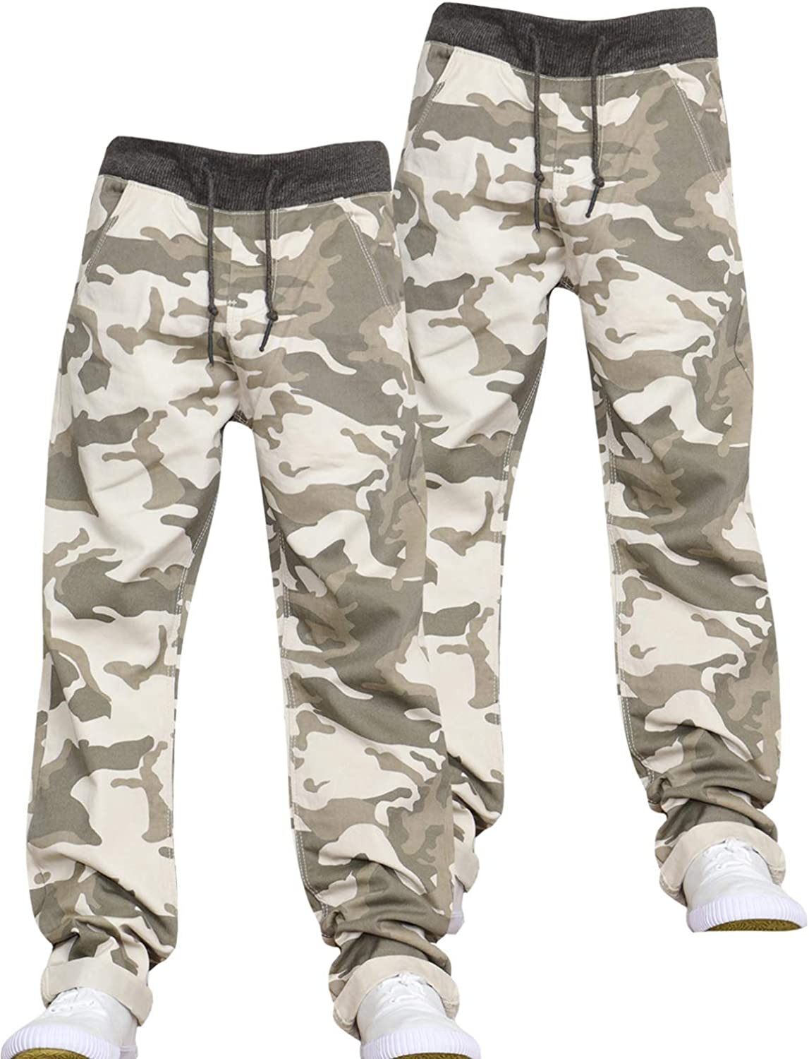 New Boys Multipack Kids Camo Designer Pull-On Elasticated Waist Jogger Camoflauge Jeans Pants by JEANBASE