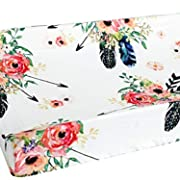 Baby Girl Floral Crib Bedding Floral Changing Pad Cover (Feather)