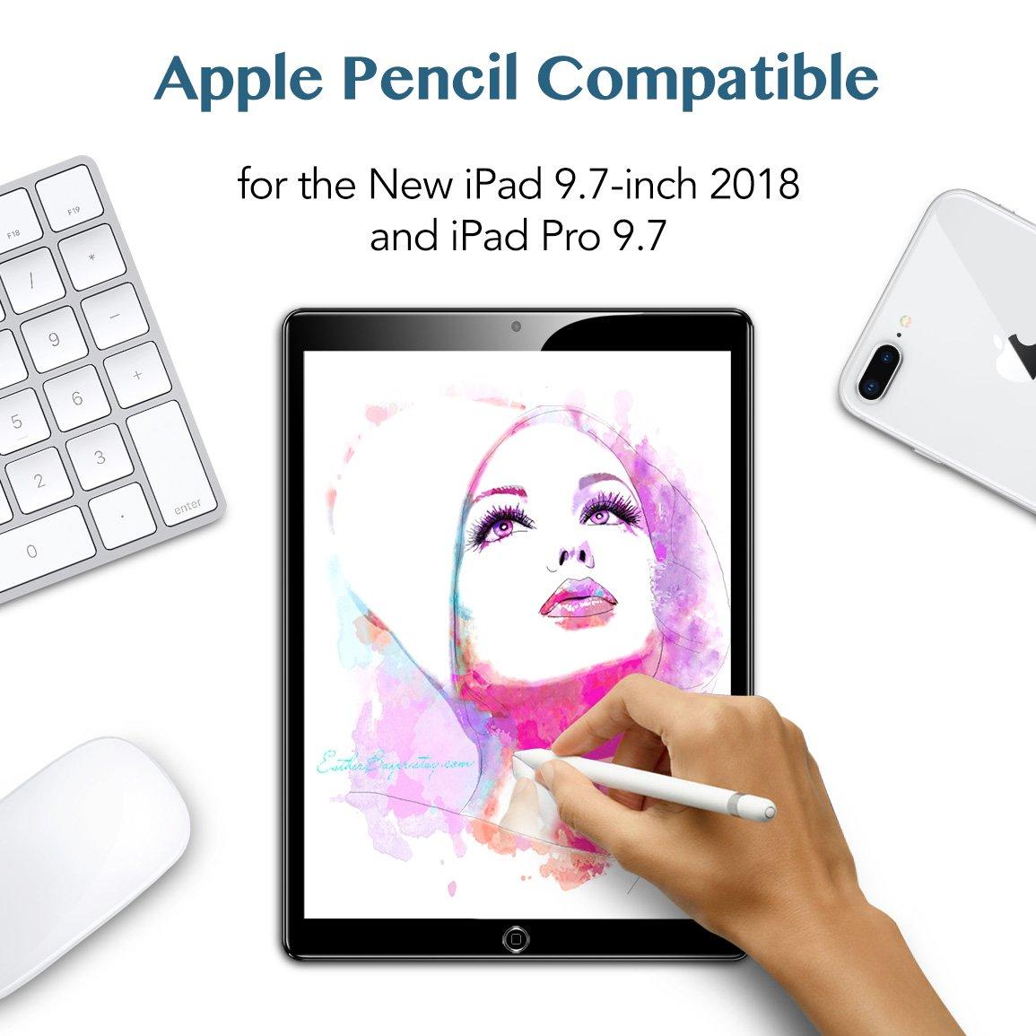 ESR Protector Pantalla iPad 2018 [Instalación Fácil] Cristal Vidrio ...