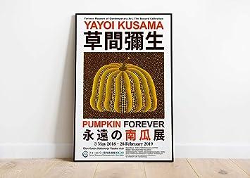 yayoi kusama pumpkin forever 2018 exhibition poster david hockney print wanddekoration wandkunst a1