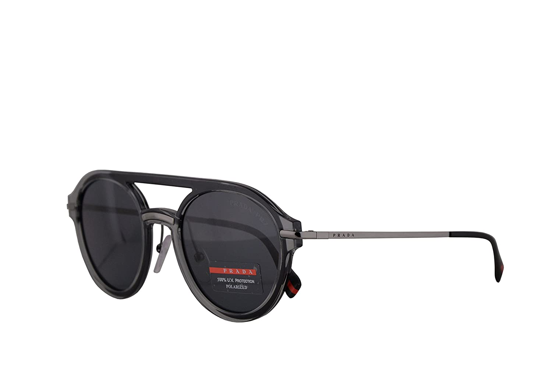 b29bb131af85 Amazon.com  Prada PS05TS Sunglasses Grey w Polarized Grey Lens 51mm P2X5Z1  SPS05T PS 05TS SPS 05T  Clothing