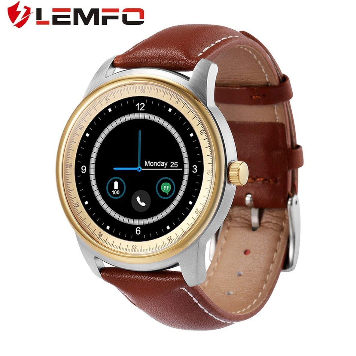 Moliies LEMFO LEM1 Schrittzähler Blautooth Armbanduhr Sync Phone Book für iOS für Android