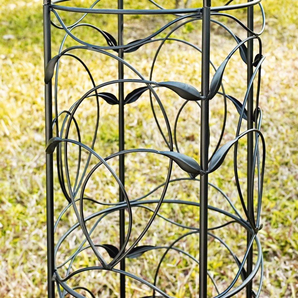Amazon.com : Obelisk Trellis Garden Outdoor Metal Black Tower 54 ...