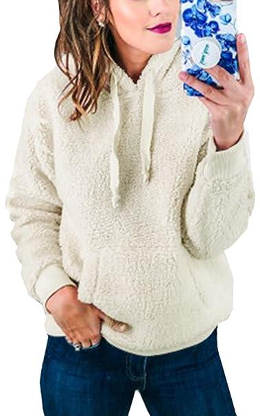 newest 77f6e 8726a Spec4Y Damen Pullover Kurze Cardigan Langarm Casual Hoodie Wonder Damen  Pullove Zip Pullover Herbst Winter
