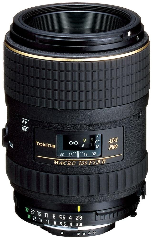 SLR Nikon Tokina ATX100N Color Negro Objetivo para c/ámaras AT-X M100 AF Pro D Macro 9//8
