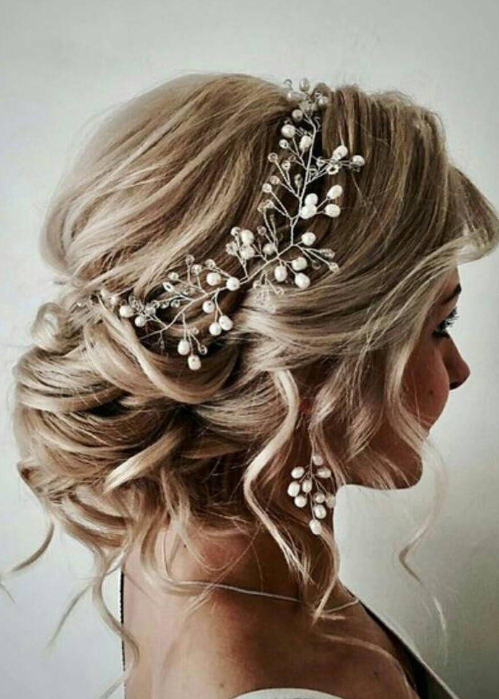 UK Seller NEW Beautiful Rose Gold Bow Bead /& Crystal Hair Clip