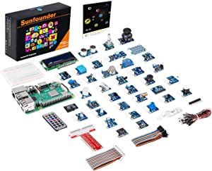 SunFounder Raspberry Pi 3 Model B+ 37 Modules Sensor Kit V2.0 for Rpi 4B, 3 B+, 2B, A+, Zero, Raspberry Pi Board Included