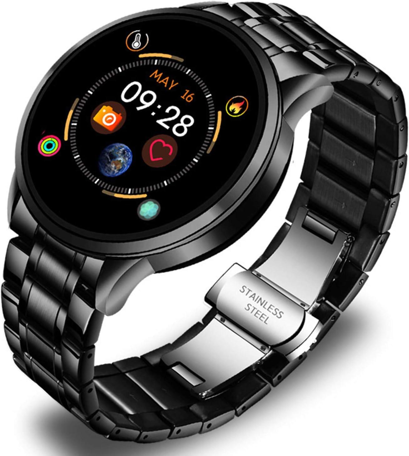 LTLJX Reloj Connected SmartWatch IP67 Impermeable Sporty Fitness Tracker Sleep, Presión Arterial, Monitoreo de la frecuencia del corazón Pedómetro Hombre Mujer Inteligente para Android iOS,Negro