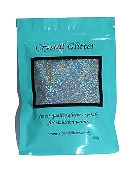 Cristales con purpurina para pintura de emulsión, diamantes plateados con cristales holográficos: Amazon.es: Bricolaje y herramientas