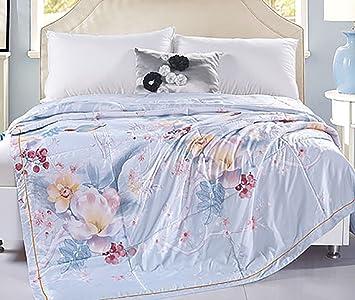 Qwhkk Sommer Steppbett Feines Dünnes Einfache Und Doppelte Bettdecke