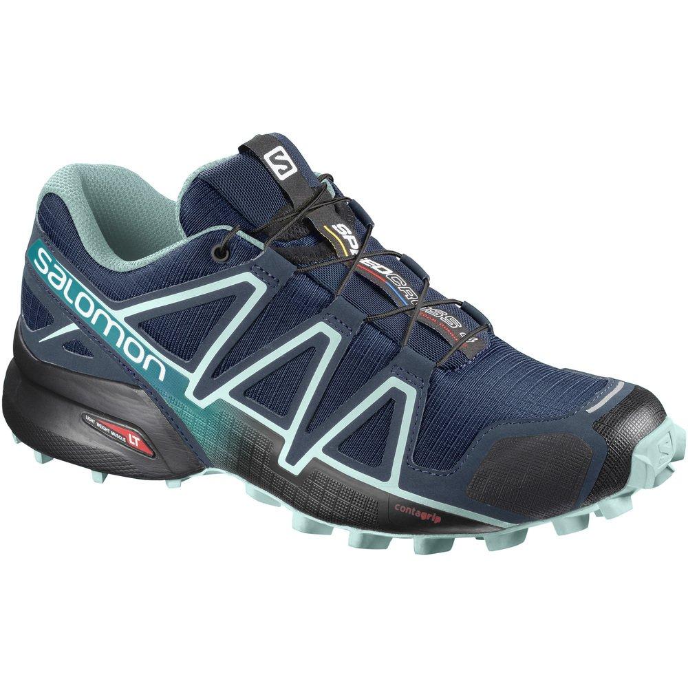 Salomon Women's Speedcross 4 W Trail Runner B07F859VNN 5 M US Poseidon / Eggshell Blue / Black