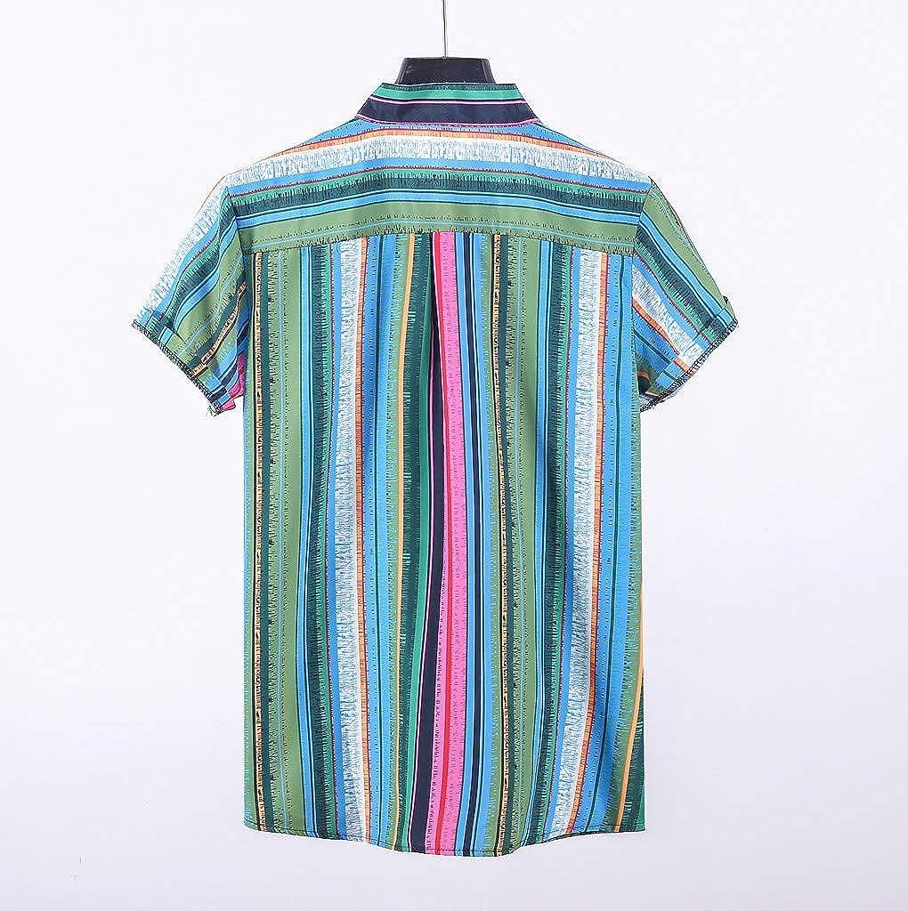 Amazon.com: Camiseta de manga corta para hombre con botones ...
