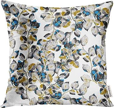 Amazon.com: Funda de almohada Golee de acuarela azul y ...