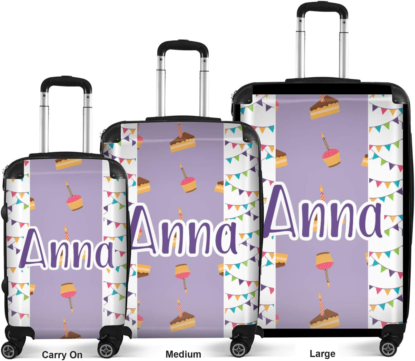 Personalized Happy Birthday Suitcase 20 Carry On