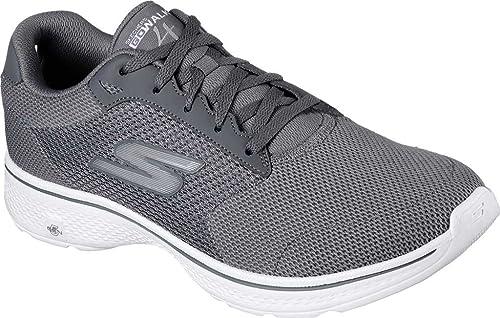 Skechers Go Walk 4 Scarpe da ginnastica con caviglia bassa, da uomo, Grigio  (Charcoal), 47 3E EU