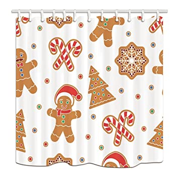 Amazon.com: New Year Holiday Shower Curtains for Bathroom Christmas ...
