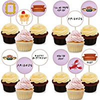20pcs Friends TV Show Party Cupcake Topper, Pre-Assemble Cupcake Topper Ideal for Friends theme Birthday Party Decorations Supplies