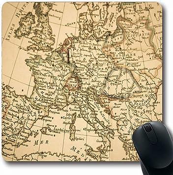 Luancrop Alfombrillas para Ordenadores Italia Antiguo Mapa Antiguo ...