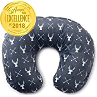 Minky Nursing Pillow Cover | Deer Pattern Slipcover | Best for Breastfeeding Moms | Soft Fabric Fits Snug On Infant Nursing Pillows to Aid Mothers While Breast Feeding | Great Baby Shower Gift