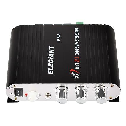 ELEGIANT 20W 12V Mini Hi-Fi Amplifier Booster Radio MP3 Stereo for Car  Motorcycle Home  Amazon.in  Electronics 11c083cf8b557