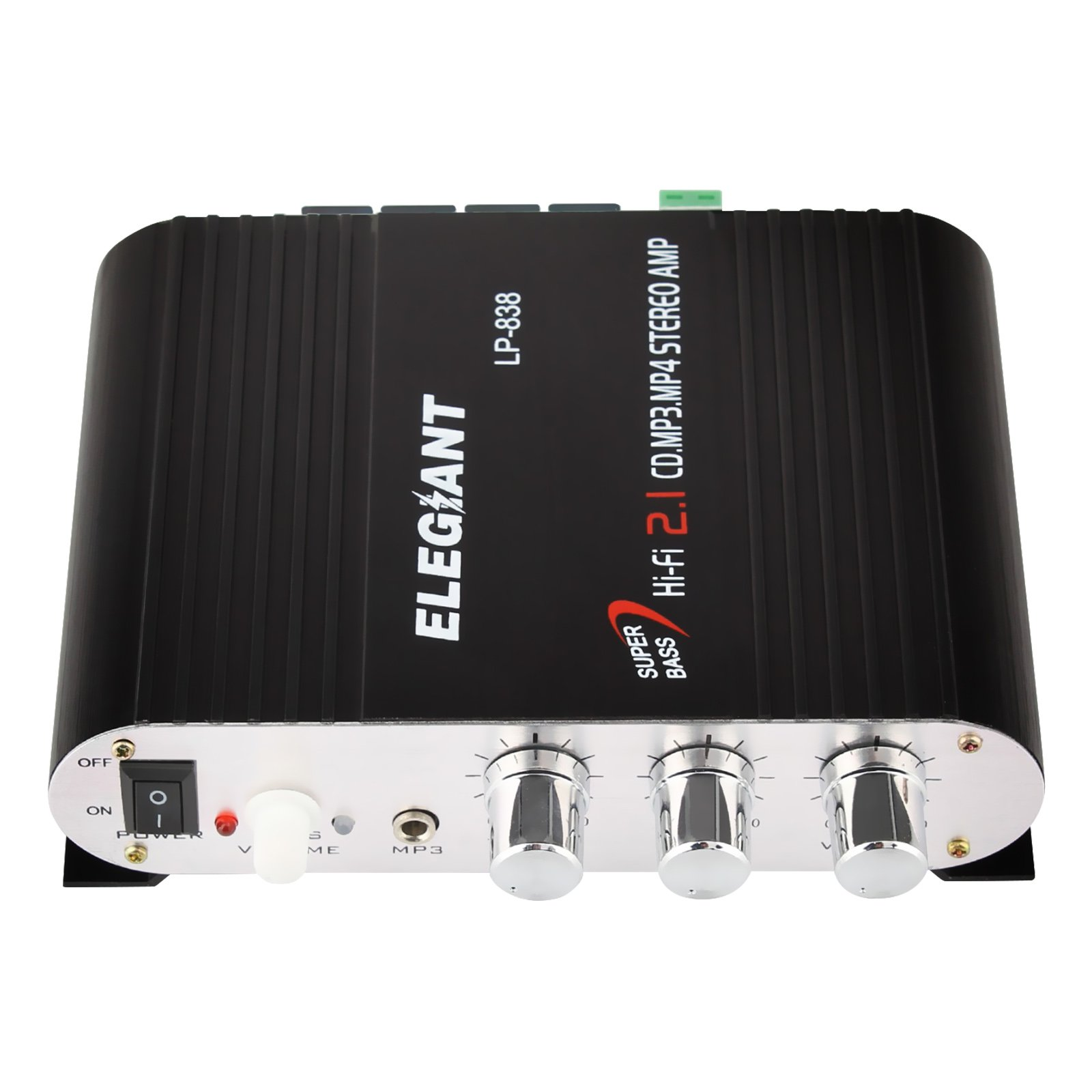 ELEGIANT 20W 12V Mini Hi-Fi Amplifier Booster Radio MP3 Stereo for Car  Motorcycle Home