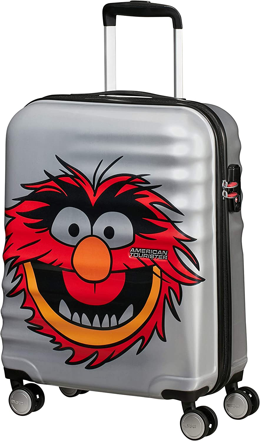 American Tourister Wavebreaker Disney - Muppets Spinner Small Equipaje de mano, 36 liters, Gris (Animal Sparkle)