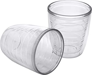 2-pack Insulated 12 Ounce Tumblers - Drinking Glasses Made in USA - Clear (12oz Insulated Glasses)