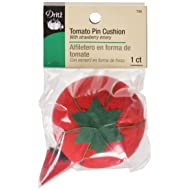 Dritz 732 Tomato Pin Cushion with Emery, Red, Size 2 (3/4-Inch)