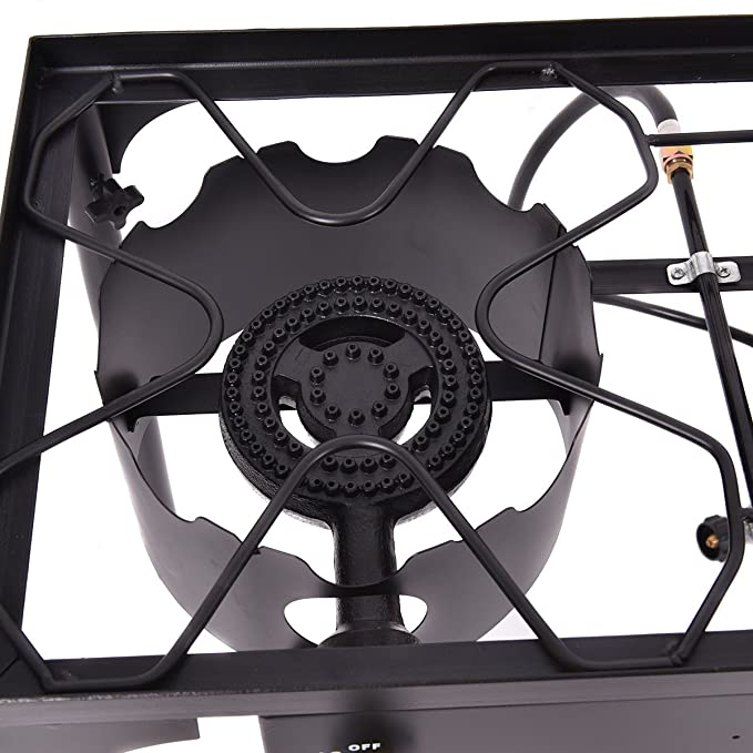 Amazon.com: New Double Burner Gas Propane Cooker Outdoor Camping Picnic Stove Stand BBQ Grill: Sports & Outdoors