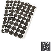 EMUCA Fieltros Adhesivos para Muebles, Color marrón, Redondos