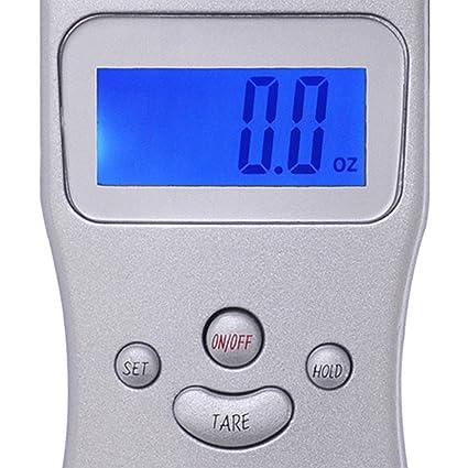 KOVAL Inc. 110 Lb - Báscula portátil digital alimentos G equilibrio medición equipaje colgante escala con pantalla LCD retroiluminada: Amazon.es: Hogar