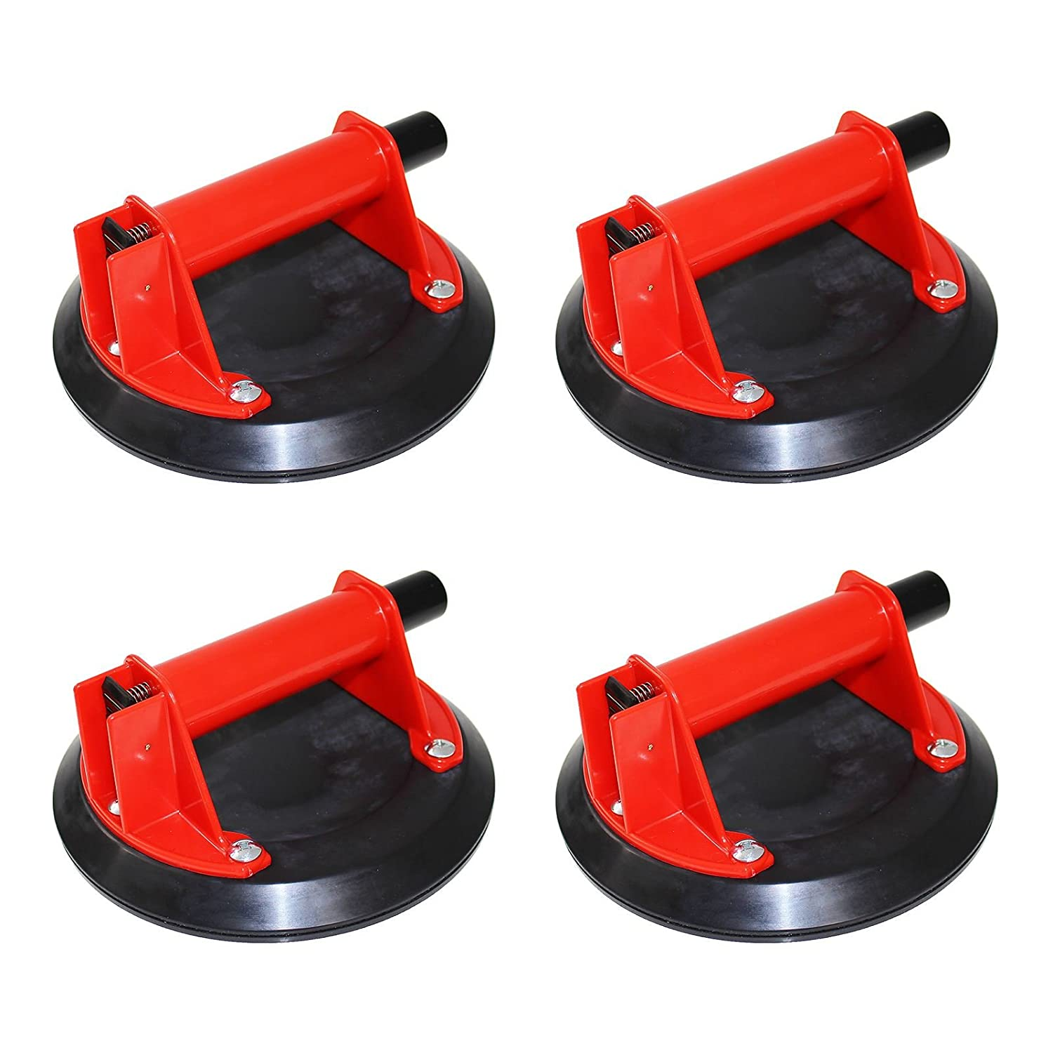 2 x Xpert 8' Single Cup Vacuum Glazing Lifter Pump Action Suction Glass Granite Lift Sucker Window Ware