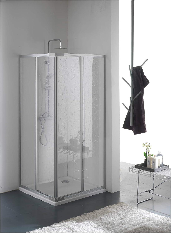 Mampara de ducha en acrílico cristal con esquina. puertas ...