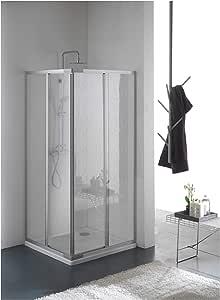 Mampara, cabina de ducha, tamaño: 70 x 90 cm de ancho, H 185 cm, de Acry lglass plexiglás, esquina de apertura, 2 schi ebtüren,: Amazon.es: Bricolaje y herramientas