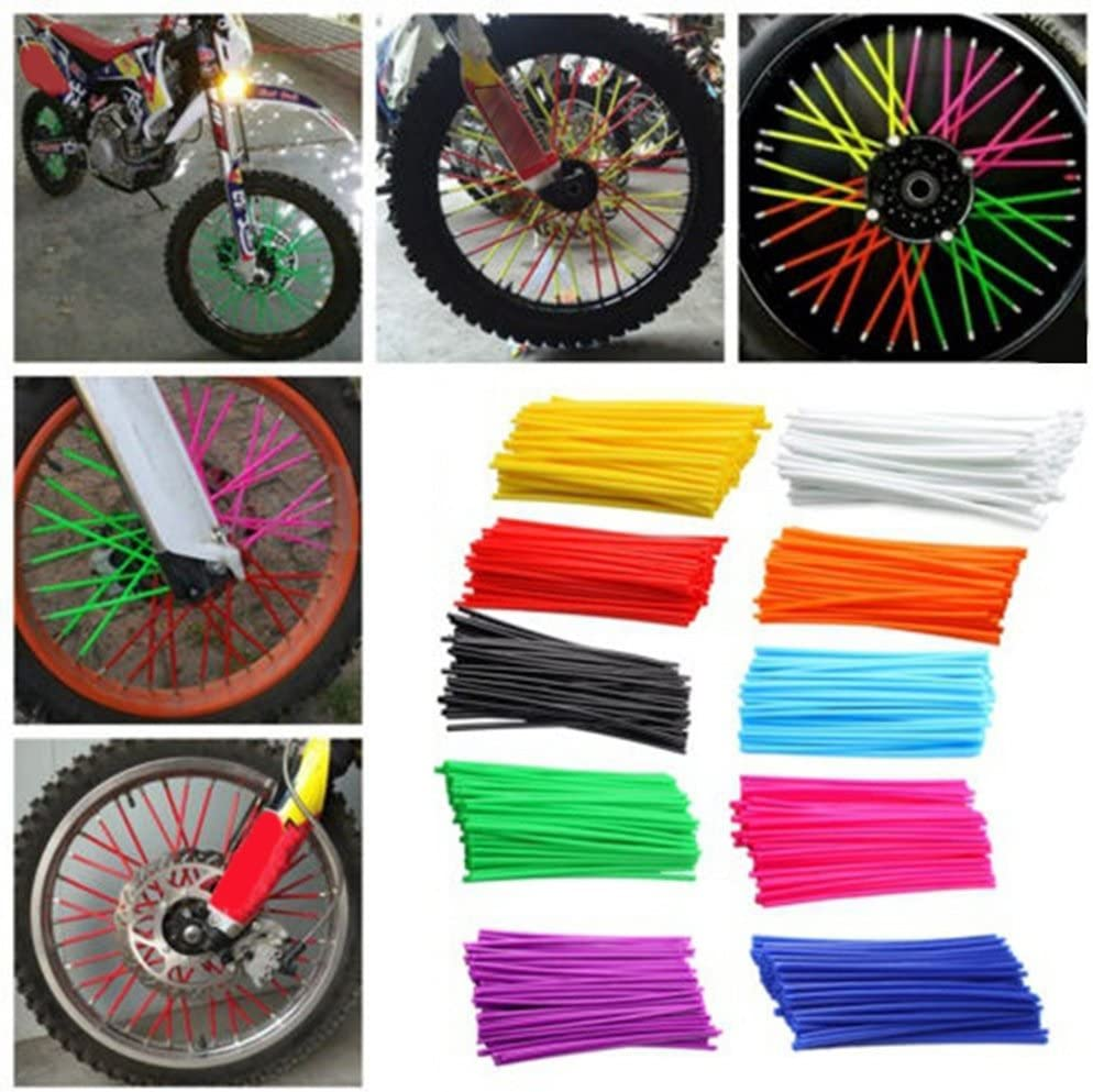Funie 36pcs Bike Wheel Motocross Spoke Skins Rims Covers Road Guard Wraps Coats