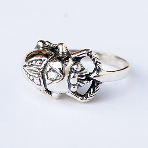 Amazon 925 Sterling Silver Scarab Ring Egyptian Scarab Beetle