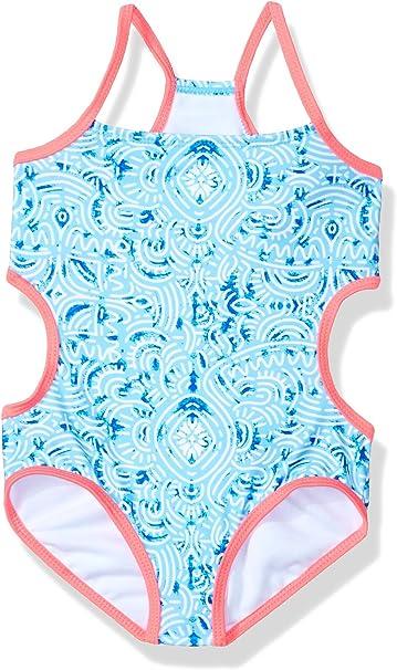 Jantzen Little Girls Neo Nautical Cut Out Floral Swimsuit