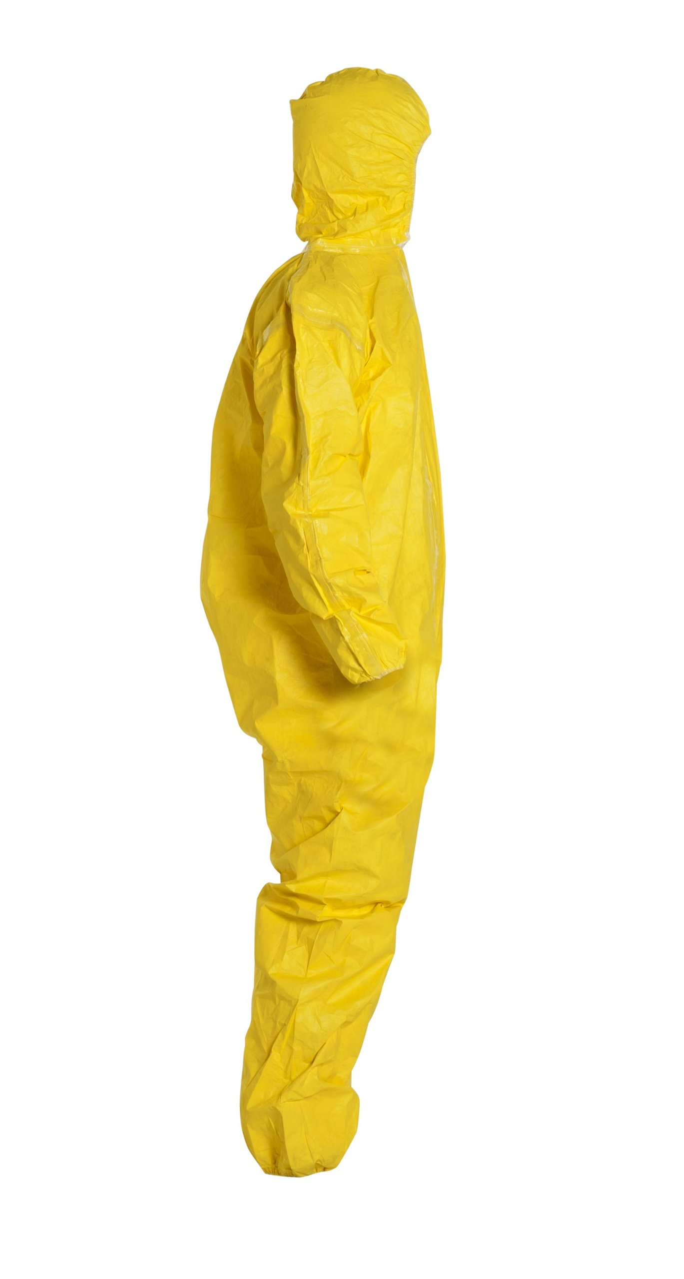 DuPont Tychem 2000 QC127S Disposable Chemical Resistant Coverall with Hood, Elastic Cuff and Serged Seams, Yellow, X-Large (Pack of 12) by DuPont (Image #3)