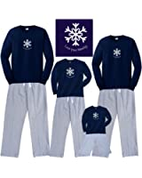 Matching Winter Snowflake Pajamas for the Whole Family Men Women; Kids Playwear
