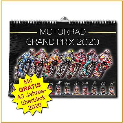 Gran Premio di motociclismo formato DIN A3 Calendario MotoGP 2020