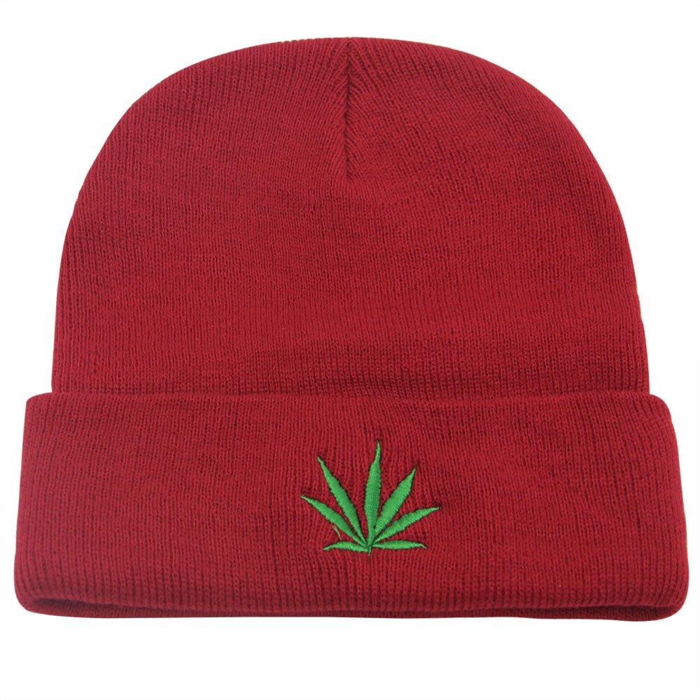 Amazon.com  Marijuana Beanie 420 Weed Plant Rasta Hat Soft Cannabis   Clothing 0fef7a0bb27b