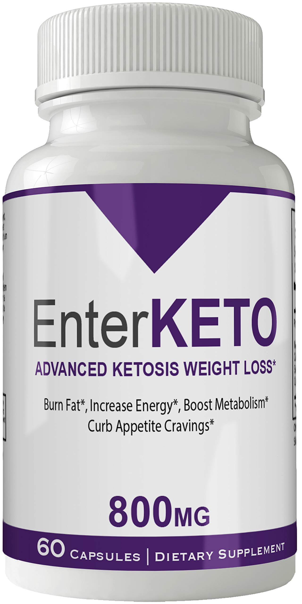 Enter Keto Pills Advance Weight Loss Supplement Appetite Suppressant Natural Ketogenic 800 mg Formula with BHB Salts Ketone Diet Capsules to Boost Metabolism, Energy and Focus
