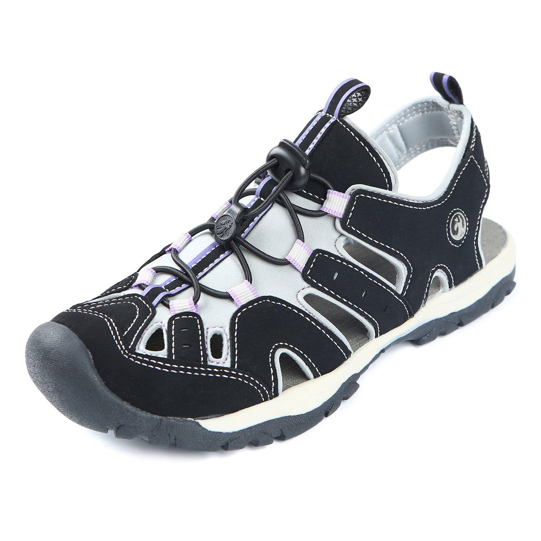Northside Womens Burke II Sport Athletic Sandal B07C122T2K 37 M EU|Black/Lilac