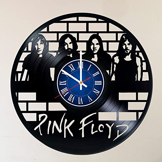 THE ROCK BAND PINK FLOYD 12 INCH 30 CM VINYL RECORD WALL CLOCK – Modern Large PINK FLOYD Art – GIFT FOR BOYS – Gift idea for children, teens, adults –