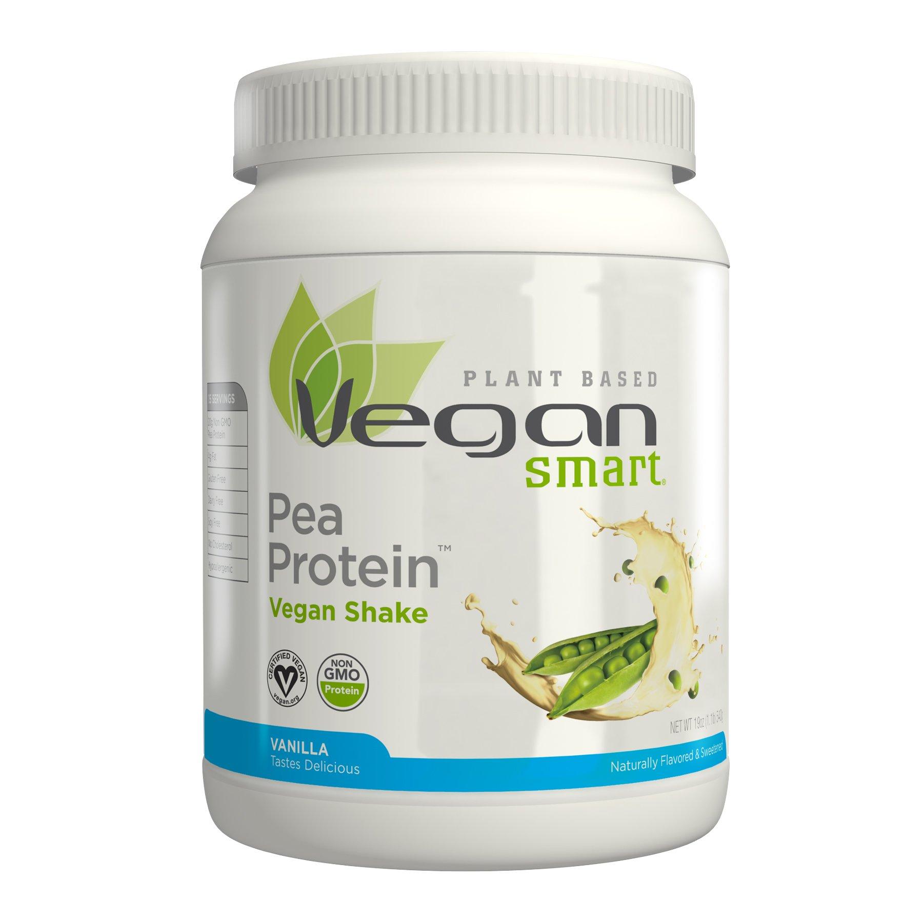 Naturade Plant Based VeganSmart Pea Protein – Vanilla – 20.63 oz