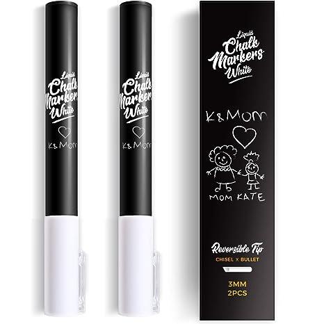 K&Mom- Rotulador de tiza líquida, punta reversible fina, 3 ...